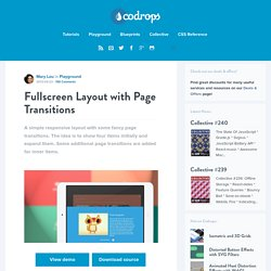 Fullscreen Layout with Page Transitions