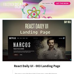 Fullstack React: React Daily UI - 003 Landing Page