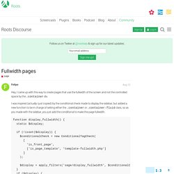 Fullwidth pages - sage - Roots Discourse