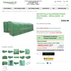 SP6 6m Fully Galvanised Frame Polytunnel - Metal Door - In Stock - Polytunnels