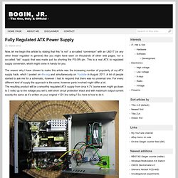 Fully Regulated ATX Power Supply - BOGIN, JR.