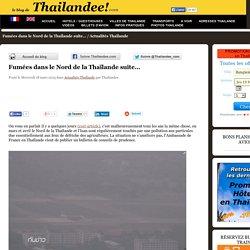 Fumées dans le Nord de la Thaïlande suite...
