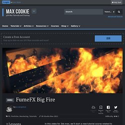 (tut) FumeFX Big Fire @MaxCookie #free