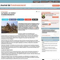 JDLE 08/10/14 Nouveaux Risques - Le fumier, un moteur d'antibiorésistance
