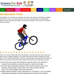 Fun Acceleration Facts for Kids