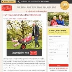 Fun Activities for Retired Seniors