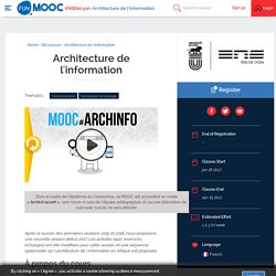 FUN - Architecture de l'information