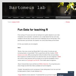 Fun Data for teaching R