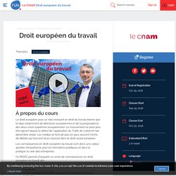 FUN - Droit européen du travail