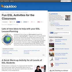Fun ESL Activities for the Classroom