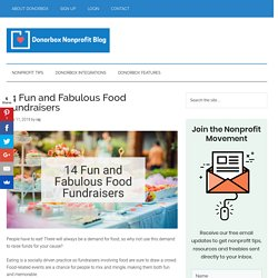 14 Fun and Fabulous Food Fundraisers