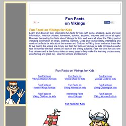 Fun Facts on Vikings for kids ***