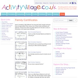 Fun Family Certificates to Print