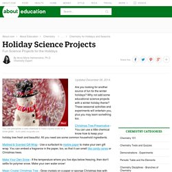 Fun Holiday Science Projects