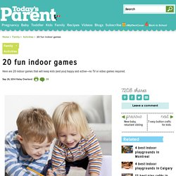 20 fun indoor games