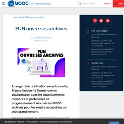 FUN ouvre ses archives