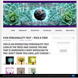 Fun Personality Test – Pick A Tree