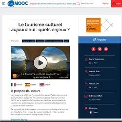 FUN - Le tourisme culturel aujourd'hui : quels enjeux ?