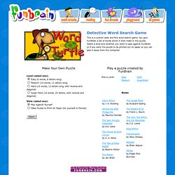 Word Detective Word Search Game