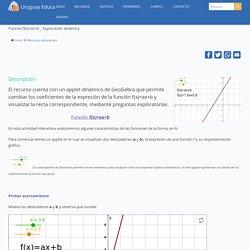 Función f(x)=ax+b _ Exploración dinámica