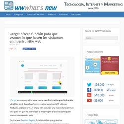 Zarget ofrece función para que veamos lo que hacen los visitantes en nuestro sitio web