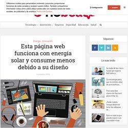 Esta página web funciona con energía solar y consume menos debido a su diseño