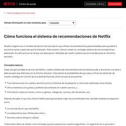 Cómo funciona el sistema de recomendaciones de Netflix