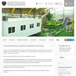 Funcionamiento de una planta de clasificación de residuos