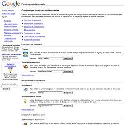 Funciones de búsqueda