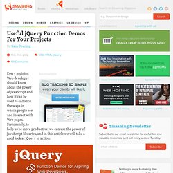 50 jQuery Function Demos for Aspiring Web Developers - Smashing Coding