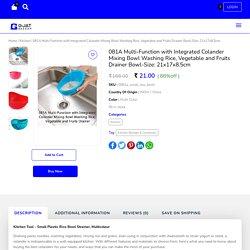 Multi-Function with Colander Rice Washing, Veg & Fruits Drainer Bowl - GjatBazaar
