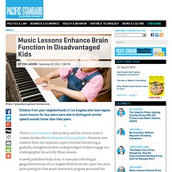 Music Lessons Enhance Brain Function in Disadvantaged Kids