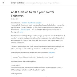 An R function to map your Twitter Followers · Simply Statistics