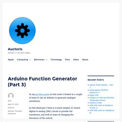 Arduino Function Generator (Part 3) – Auctoris