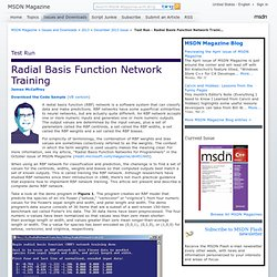 Test Run - Radial Basis Function Network Training