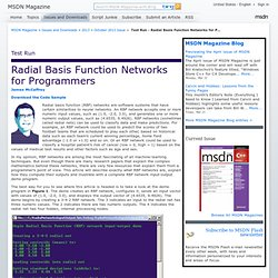 Test Run - Radial Basis Function Networks for Programmers
