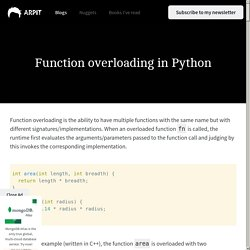 Function overloading in Python