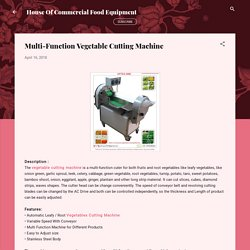 Multi-Function Vegetable Cutting Machine