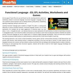 Functional Language ESL EFL Activities Worksheets Games