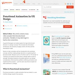 Functional Animation In UX Design