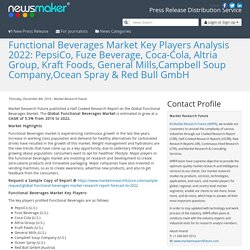 Functional Beverages Market Key Players Analysis 2022: PepsiCo, Fuze Beverage, Coca-Cola, Altria Group, Kraft Foods, General Mills,Campbell Soup Company,Ocean Spray & Red Bull GmbH