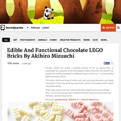 Edible And Functional Chocolate LEGO Bricks By Akihiro Mizuuchi