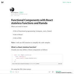 Functional Components with React stateless functions and Ramda – Medium