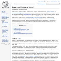 Functional Database Model