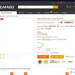 Best Multi-functional Large LED Digital Wall black eu Sale Online Shopping