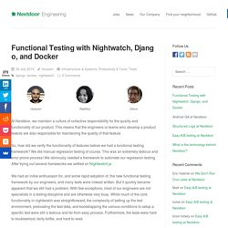 Functional Testing with Nightwatch, Django, and Docker