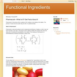 Functional Ingredients : Pharmacoat—What Is It? Get Facts About It