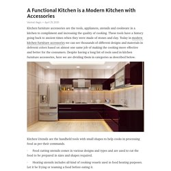 What is the latest kitchen design?