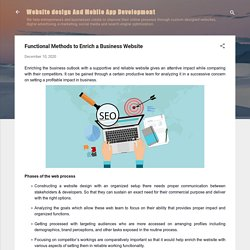 Functional Methods to Enrich a Business Website