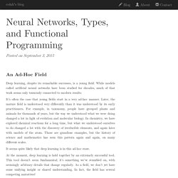 Neural Networks, Types, and Functional Programming